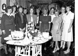 Pictured are Lucille Brewer, June Scannell, Sandy Lyon, Jane Henneman, Mary Evenson, Donna Chronister, Geni Roark, Margie Jobe, Carolyn Phebus, Barbara Hundley, and Andrea Schmidt